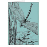 The Dragonfly in Flight Greeting Cards