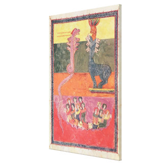The Dragons, from the Girona Beatus Canvas Print