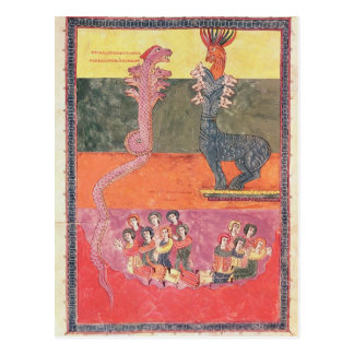 The Dragons, from the Girona Beatus Postcard