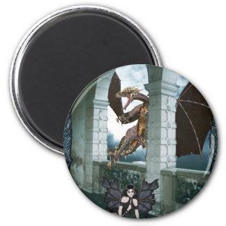 The Dragon's Lair Fridge Magnet