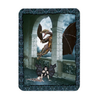 The Dragon's Lair Rectangle Magnets