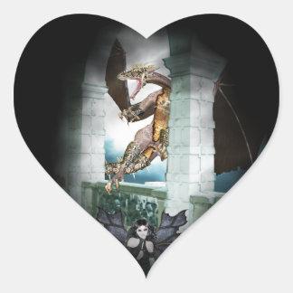 The Dragon's Lair Vignette Heart Sticker