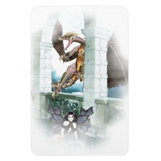 The Dragon's Lair Vignette Rectangle Magnets