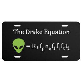 The Drake Equation License Plate