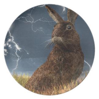 The Drama Bunny Dinner Plate