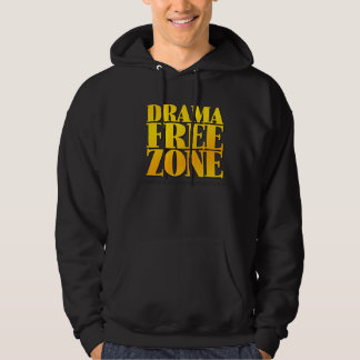 The Drama Free Zone Hoodie Black
