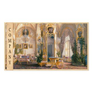 The Drawing Room in Rococo II Style, with Cupids Business Card Template