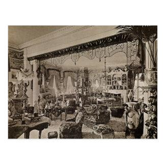 The Drawing Room, Wickham Hall, Kent, 1897 Postcard