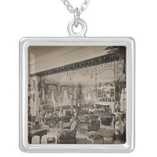 The Drawing Room, Wickham Hall, Kent, 1897 Silver Plated Necklace