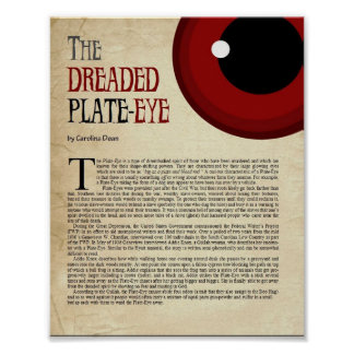 The Dreaded Plate-Eye Poster