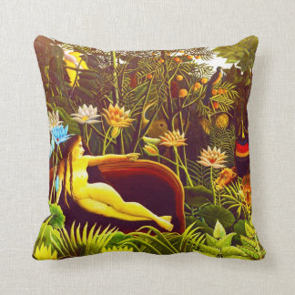 The Dream, by Henri Rousseau Throw Pillow