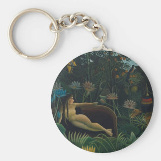 The Dream by Henri Rousseau, Vintage Impressionism Keychain