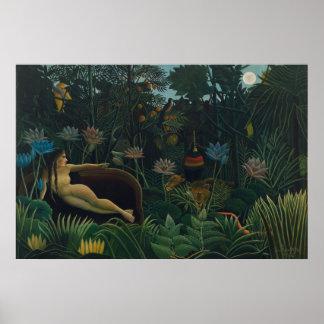 The Dream by Henri Rousseau, Vintage Impressionism Print