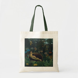 The Dream by Henri Rousseau, Vintage Impressionism Tote Bag