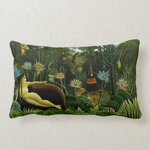The Dream - By Rousseau Throw Pillow