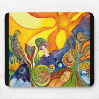 The Dream Fantasy Art  Modern Psychedelic Surreal Mouse Pad