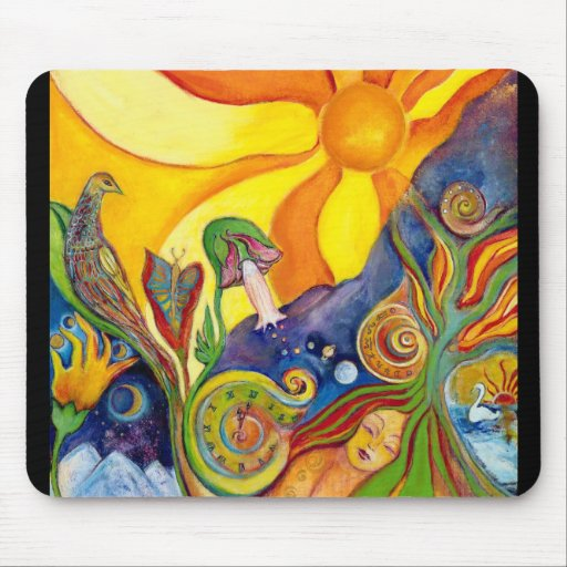 The Dream Fantasy Art  Modern Psychedelic Surreal Mousepads