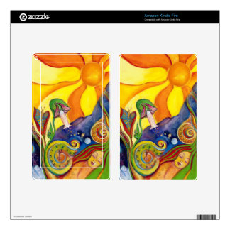 The Dream Fantasy Art  Modern Psychedelic Surreal Skin For Kindle Fire