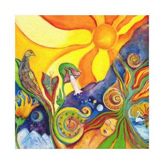 The Dream Fantasy Modern Folk Art Alice Wonderland Stretched Canvas Print