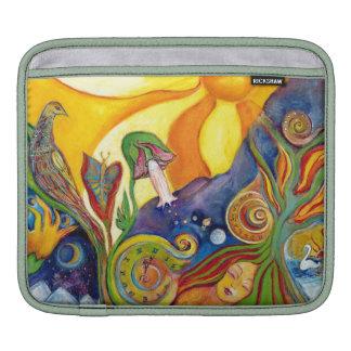 The Dream Fantasy Modern Folk Art Alice Wonderland iPad Sleeve
