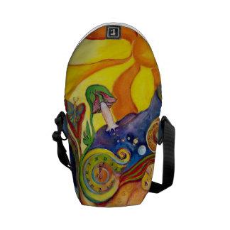 The Dream Fantasy Modern Folk Art Alice Wonderland Messenger Bags