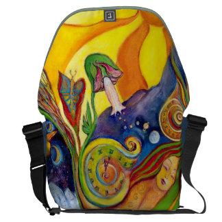 The Dream Fantasy Modern Folk Art Alice Wonderland Messenger Bag