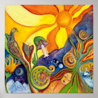 The Dream Fantasy Modern Folk Art Alice Wonderland Posters