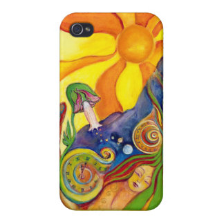 The Dream Fantasy Psychedelic Art Alice Wonderland Covers For iPhone 4