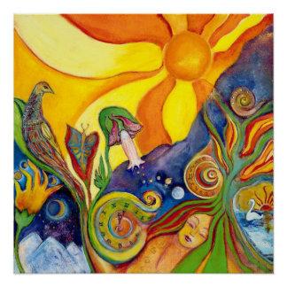 The Dream Fantasy Psychedelic Art Alice Wonderland Poster