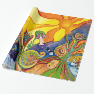 The Dream Fantasy Psychedelic Art Alice Wonderland Wrapping Paper