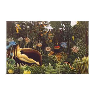 The Dream Henri Rousseau Jungle Flowers Painting Canvas Prints