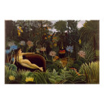 The Dream Henri Rousseau Jungle Flowers Painting Print