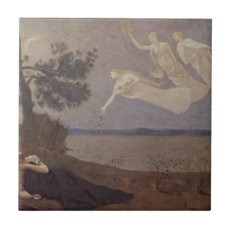 The Dream: 'In his sleep he Saw Love, Glory Small Square Tile