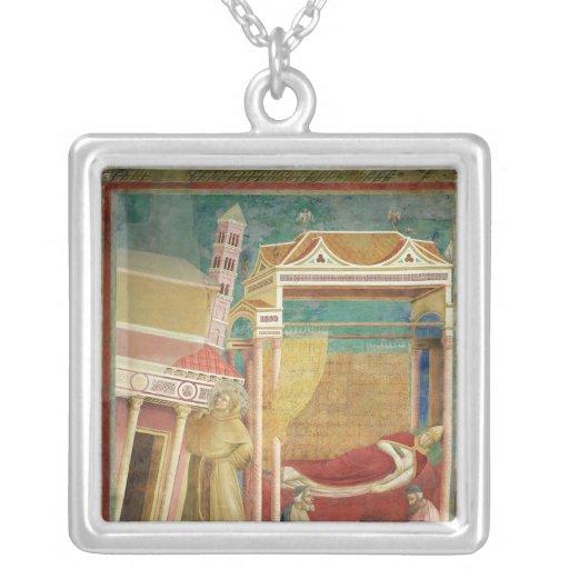 The Dream of Innocent III, 1297-99 Square Pendant Necklace