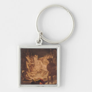 The Dream of Ossian, 1813 Silver-Colored Square Keychain
