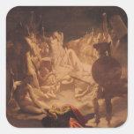 The Dream of Ossian, 1813 Square Stickers