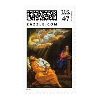 The Dream of Saint Joseph by Champaigne Stamp