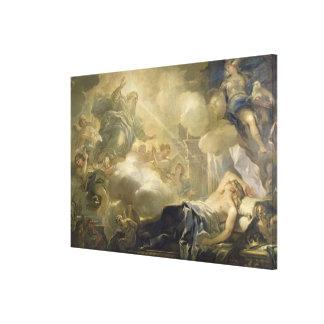 The Dream of Solomon c 1693 oil on canvas Gallery Wrap Canvas