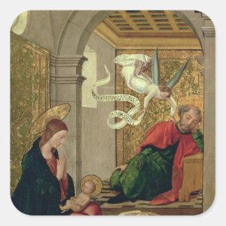 The Dream of St. Joseph, c.1535 Square Sticker