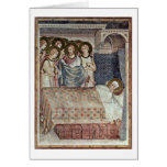 The Dream Of St. Martin By Simone Martini Greeting Card