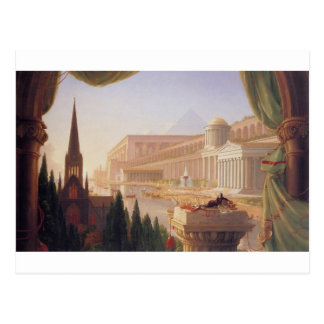 The dream of the architect by Thomas Cole Postcard