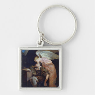 The Dream of the Poet Silver-Colored Square Keychain