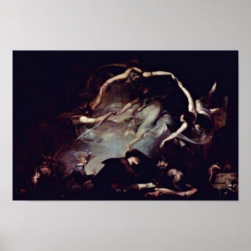 The Dream Of The Shepherd By Füssli Johann Heinric Print