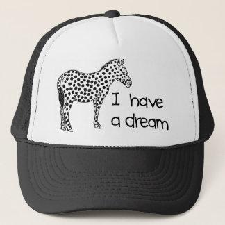 the dream of the zebra trucker hat