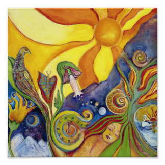 The Dream Whimsical Modern Fantasy Psychedelic Art Poster