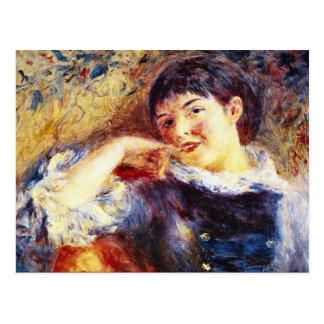 The Dreamer by Pierre Renoir Postcard