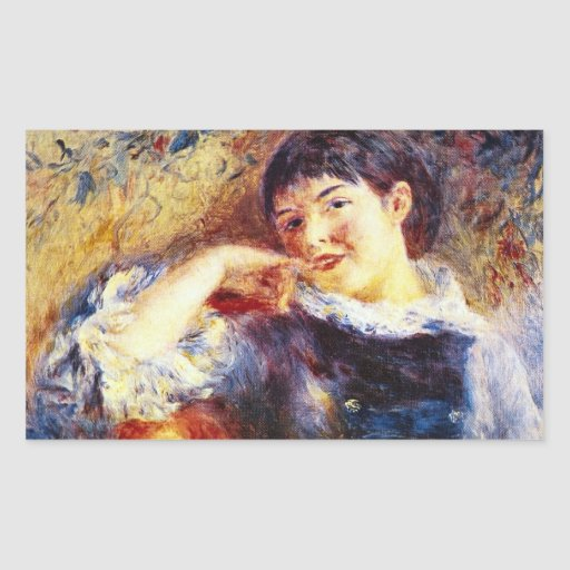 The Dreamer by Pierre Renoir Rectangle Sticker