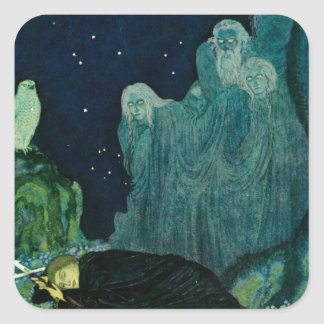 The Dreamer of Dreams: A Circle of Mist Square Stickers
