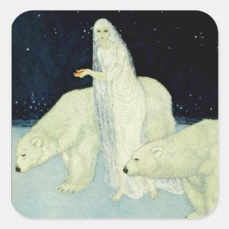 The Dreamer of Dreams: White, Glistening & Shining Square Sticker