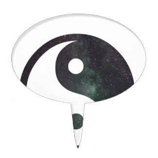 """""""The Dreamer"""" Stars Galaxy Print Products Cake Topper"""
